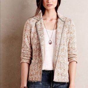 Anthropologie SATURDAY SUNDAY Paracas Knit Blazer